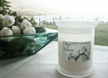 Custmized wedding candle with private label